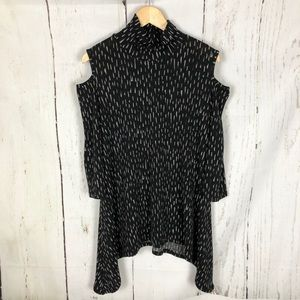Clara sun woo cold shoulder top small black USA